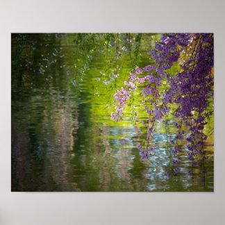 Flores de cerezo impresionistas, pequeñas póster