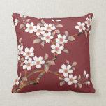 Flores de cerezo japonesas almohadas