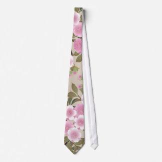 Flores de cerezo japonesas corbata personalizada