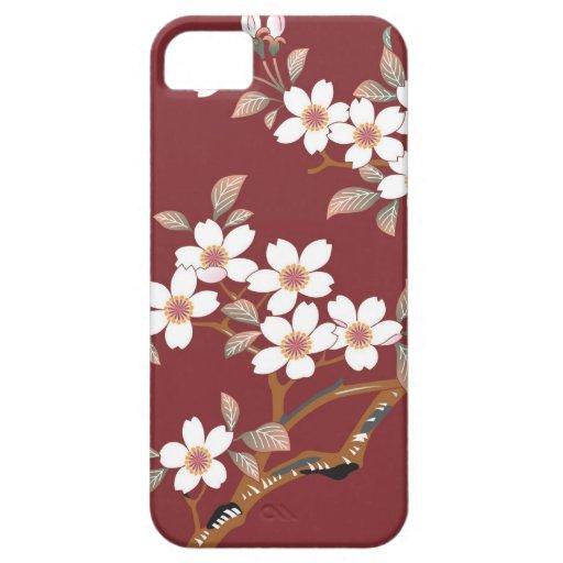 Flores de cerezo japonesas funda para iPhone 5 barely there