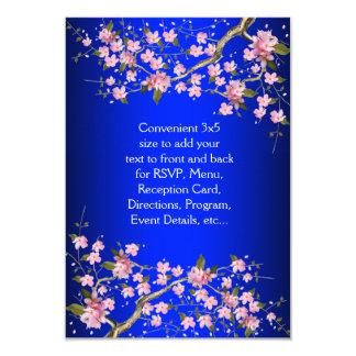 """Flores de cerezo japonesas RSVP del rosa del azul Invitación 3.5"""" X 5"""""""