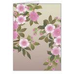 Flores de cerezo japonesas tarjeta de felicitación