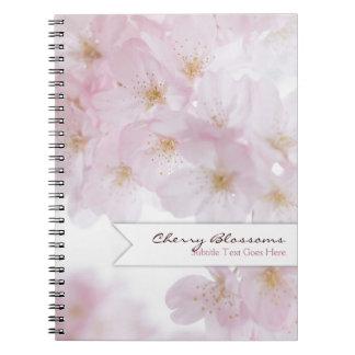 Flores de cerezo libro de apuntes