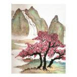 Flores de cerezo membrete a diseño