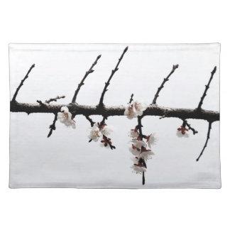 Flores de cerezo minimalistas manteles individuales