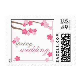 Flores de cerezo modernas que casan el sello