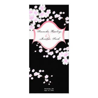 Flores de cerezo negras y blancas del programa del tarjetas publicitarias