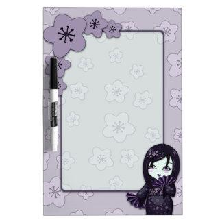 Flores de cerezo negras y púrpuras del geisha lind pizarra