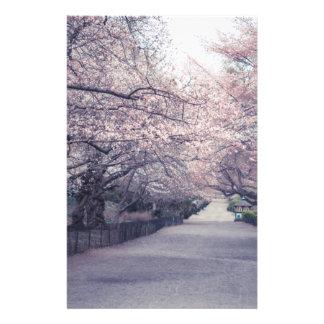 Flores de cerezo papeleria personalizada