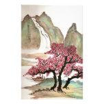 Flores de cerezo papelería personalizada