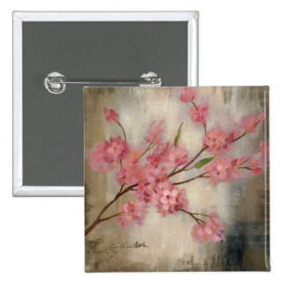 Flores de cerezo pin cuadrada 5 cm