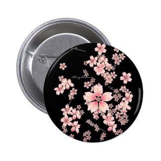Flores de cerezo pin redondo 5 cm