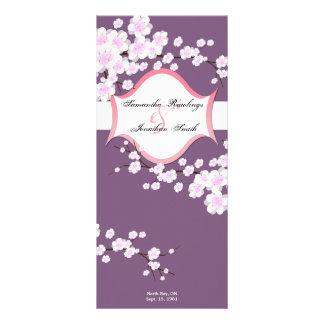 Flores de cerezo púrpuras y blancas del programa d lonas publicitarias