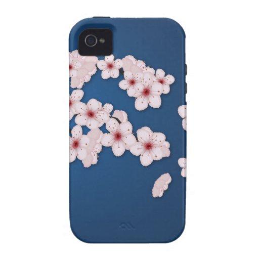 Flores de cerezo que caen iPhone 4 fundas