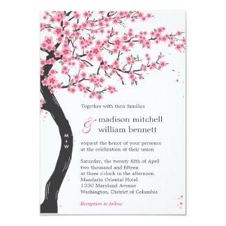 """Flores de cerezo que casan invitaciones invitación 5"""" x 7"""""""
