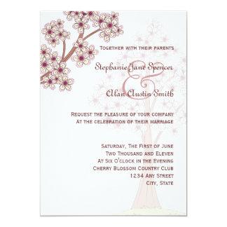 Flores de cerezo que casan la invitación