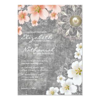 Flores de cerezo que casan la invitación -