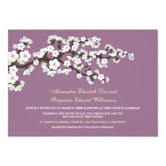 Flores de cerezo que casan la invitación (lavanda)