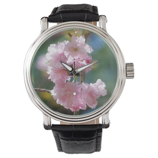 Flores de cerezo reloj