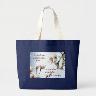 Flores de cerezo retroiluminadas 2 bolsa tela grande