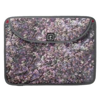 """Flores de cerezo rosadas blancas 15"""" manga del ord fundas para macbooks"""