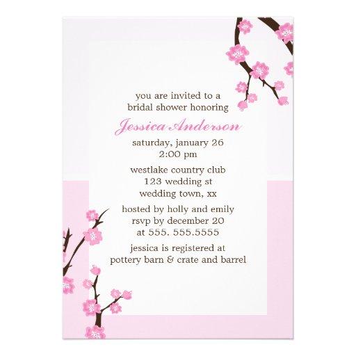 Flores de cerezo rosadas anuncio personalizado