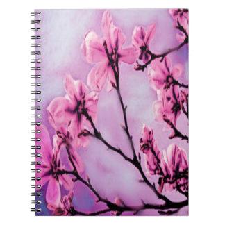 Flores de cerezo rosadas libreta