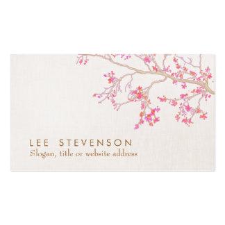 Flores de cerezo rosadas lindas Narure floral Tarjetas De Visita