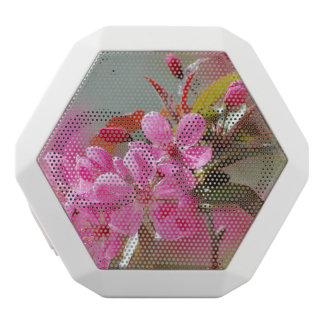 Flores de cerezo rosadas oscuras altavoces bluetooth blancos boombot REX