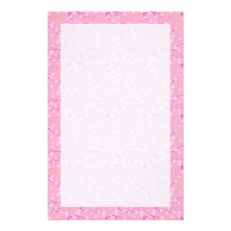 Flores de cerezo rosadas papelería de diseño