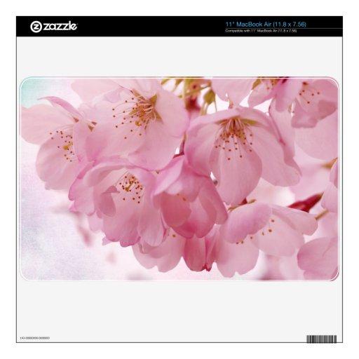 Flores de cerezo rosadas 27,9cm MacBook air calcomanía