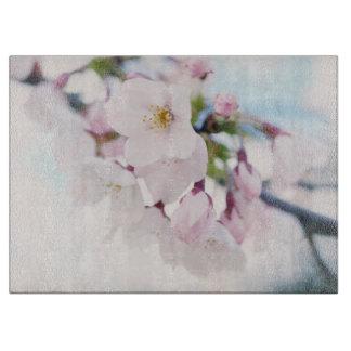 Flores de cerezo rosas claras tablas de cortar