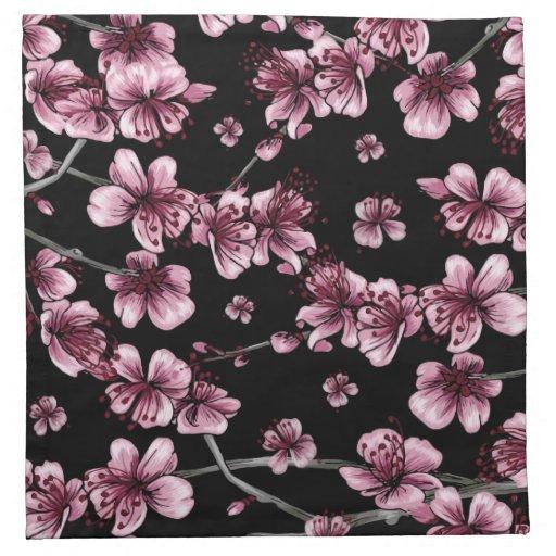 Flores de cerezo Sakura Servilletas Imprimidas