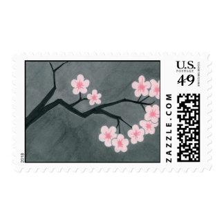 Flores de cerezo sello postal
