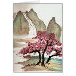 Flores de cerezo tarjeton