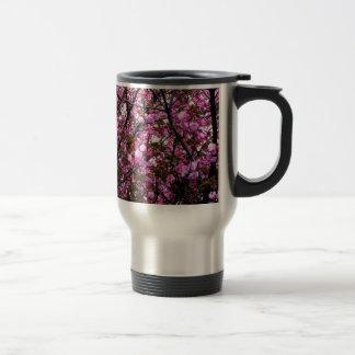 Flores de cerezo taza de viaje