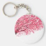 Flores de cerezo y ramas llaveros