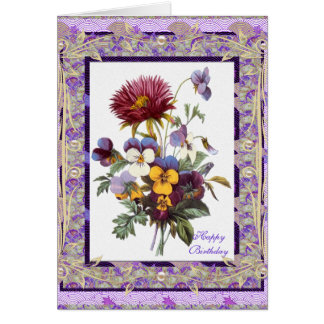 Flores de color de malva florales del vintage del