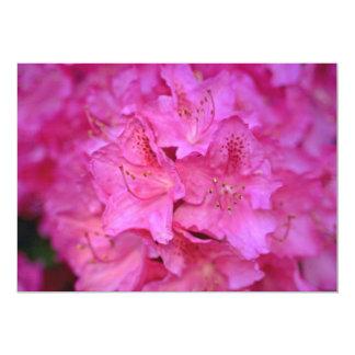 Flores de color rosa oscuro del racimo de la invitación 12,7 x 17,8 cm