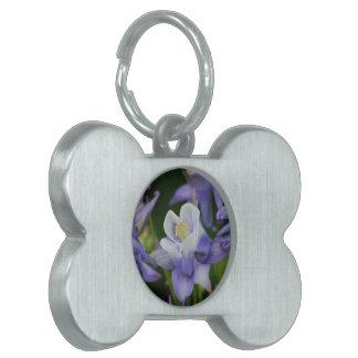 Flores de Columbine Placa De Mascota