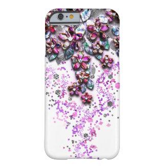 Flores de conexión en cascada - confeti nacarado funda de iPhone 6 barely there