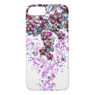 Flores de conexión en cascada - confeti nacarado funda iPhone 7
