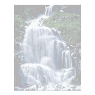 Flores de conexión en cascada de la corriente y de plantilla de membrete
