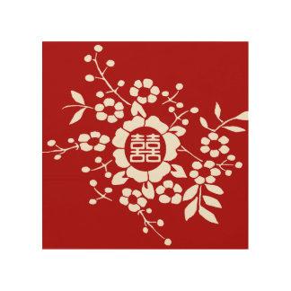 Flores de corte de papel • Felicidad doble Impresiones En Madera