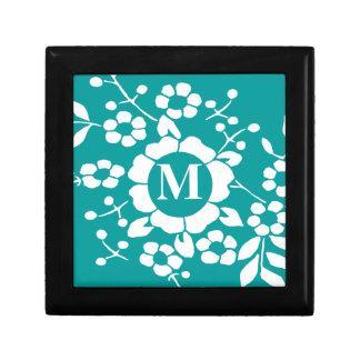 Flores de corte de papel • Monograma Cajas De Recuerdo