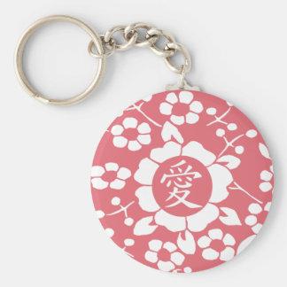 Flores de corte de papel • Rosa precioso Llavero Redondo Tipo Pin