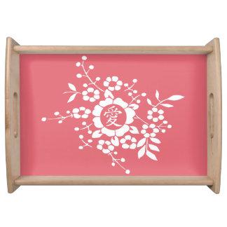 Flores de corte de papel • Rosa precioso Bandejas