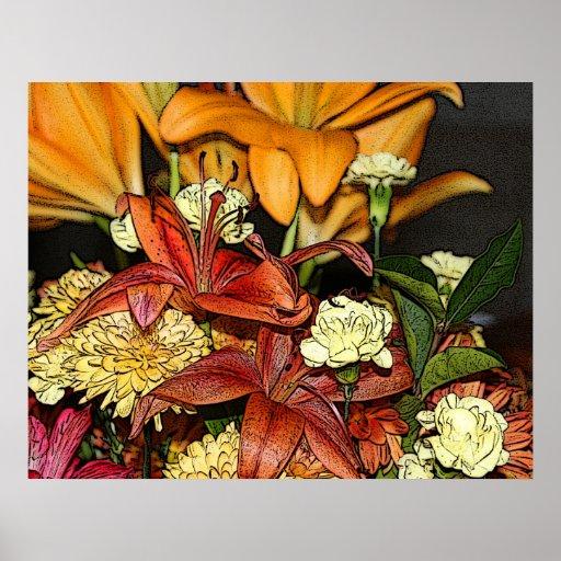 Flores de corte impresiones