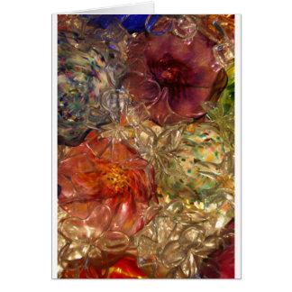 Flores de cristal tarjeta de felicitación