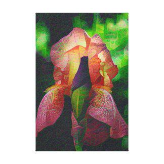 Flores de DeepDream, iris Lienzo Envuelto Para Galerias